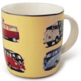 Kaffeebecher mit mehreren VW Bus T1 Motiven (-014)