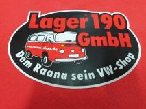 Aufkleber Lager190 GmbH, rund, 15x10cm (22-016) [max. 2 Stück]
