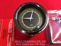 Retro-Uhr Nadelstreifen Look für Käfer Bus T1 Karmann Uhr (01-020)
