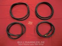 VW Käfer 08/71-12/77 Satz Scheibendichtungen Cal-Look (ohne Einschnitte für Zierleisten) (0303)