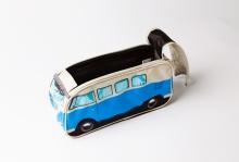 Kulturbeutel / Kosmetiktasche / Tasche VW Bus T1 blau