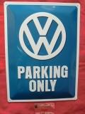 VW Parking Only Blechschild groß 30x40cm (-001)