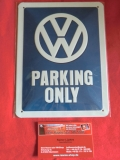 VW Parking Only Blechschild klein 15x20 cm (62-002)