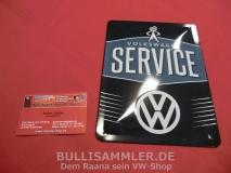 VW Volkswagen Service Blechschild klein 15x20 cm (-005)