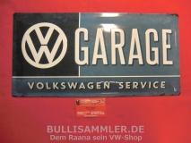 VW Volkswagen Service Garage Blechschild Schild 25x50cm (-008)