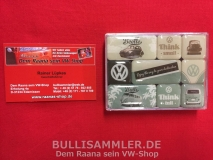VW Käfer Bus T1 Magnet-Set Retro Think small (13-018)