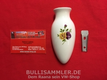 Blumenvase aus Porzellan für Käfer, Bulli und andere Oldtimer