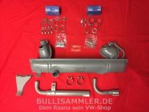 VW Bus T1 T2 65-73 kompletter Auspuff+Anbausatz 1500/1600ccm (-238)