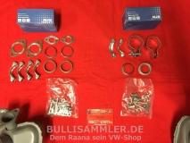 VW Bus T1 T2 63-73 kompletter Auspuff+Anbausatz 1500/1600ccm (45-238)
