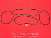 VW Käfer 08/64-07/71 + Mex. 78-84 Satz Scheibendichtungen Cal-Look (0302)