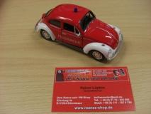 VW Käfer Feuerwehr 13cm mit Rückzugmotor WELLY Modell