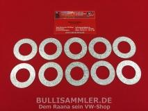 VW Käfer, T1, Typ1-Motor 10 Einstellscheiben Keilriemen-Spannung