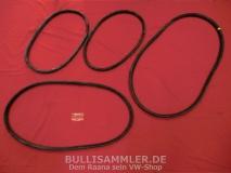 VW Käfer 58-64 Satz Scheibendichtungen Cal-Look (ohne Einschnitte für Zierleisten) (0301)