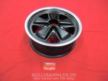 Fuchs 6x15 5x130 schwarz/silber - Flachbett - MIT TEILEGUTACHTEN