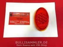 VW Käfer 55-61 Ovali 1200 NOS Glas f. Rücklicht orig. HELLA (31-054)