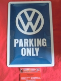 VW Parking only Blechschild Schild Blech Nostalgie Retro 20x30