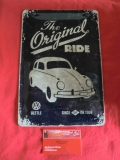 VW Käfer The original Ride Blechschild Schild Blech Retro 20x30 (62-021)