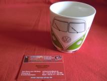 VW Bulli T1 Kaffeetasse / Becher 400ml - grün (-028)