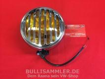 Zusatzleuchte Gelb mit Grill, Chrom, für VW & Porsche, 356-Look (01-044)