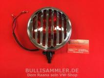 Zusatzleuchte Rot mit Grill, Chrom, für VW & Porsche, 356-Look (01-045)