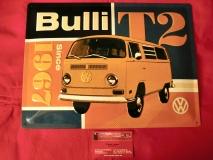 VW T2 Blechschild Schild Bulli T2 since 1967 30x40 cm