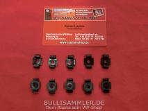 VW Bus T2 10x Zierleistenklammer Kunststoff (-275)