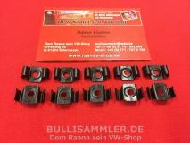 VW Bus T2 10x Zierleistenklammer Metall (0407-500)