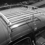 VW Käfer Dachgepäckträger grau aus Stahl & Holz (-313)