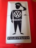 VW Blechschild Volkswagen Dienst 25x50cm