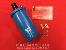 Beru Zündspule 12V ohne Halter für VW Käfer Bus T1 T2 ers. Bosch blau MADE IN MEXICO (-379)