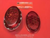 Reflektor Rücklicht für VW Käfer 55-61 Ovali mit Glas orig HELLA