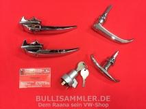 Türgriffe Set gleichschließend für VW Bus T1 08/58-12/60 PREMIUM (0425-910)