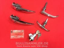 Türgriffe Set gleichschließend für VW Bus T1 01/61-07/63 PREMIUM (0425-915)