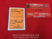 Volkswagen Service Aufkleber orange Original VW (-099)