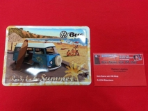 VW Surf Bus T2 Blechpostkarte Blechschild Postkarte Schild Vintage