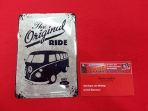 The original Ride VW Bus T1 Blechpostkarte Blechschild Postkarte