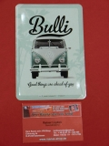 Bulli Good Things... VW Bus T1 Blechpostkarte Blechschild