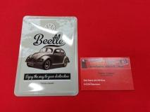 Beetle VW Käfer Blechpostkarte Blechschild Postkarte Schild