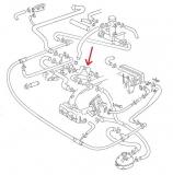 Kühlwasserschlauch Thermostat zum Ansaugrohr VW Bus T3