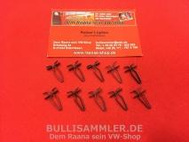 Zierleistenclips Karmann Ghia -71, 10 Clips für Türzierleisten