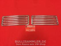 VW Käfer bis 07/69 Ziergitter Motorhaube, Paar, Alu Chrom (0422)