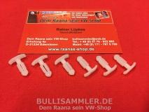 6 Klammern für Dichtung Kofferraum VW Käfer 1303, Golf 1 Tür