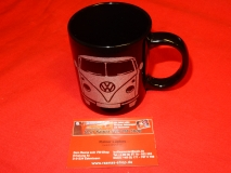 Tasse / Becher VW Bus T1 schwarz Glitzer (-009)