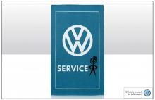 Geschirrtuch Motiv VW Service Logo Emblem Männchen Mr. Bubblehead (23-005)