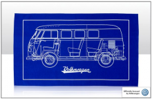 Geschirrtuch Motiv VW Bus T1 Camper Cross Section (-003)