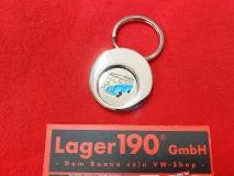 VW Bus T1 Schlüsselanhänger mit Einkaufswagenchip Chip Volkswagen (13-130)