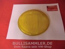 VW Bus T1 50-54 Barndoor, NOS Glas für Scheinwerfer, gelb (31-065)