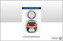 Flaschenöffner / Schlüsselanhänger Motiv VW Käfer rot