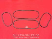 VW Käfer 1303, Satz Scheibendichtungen Cal-Look (ohne Einschnitte für Zierleisten) (0304)