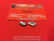 2 Endstücke für Zierleiste Kennzeichenbeleuchtung Karmann Ghia (0404-12)